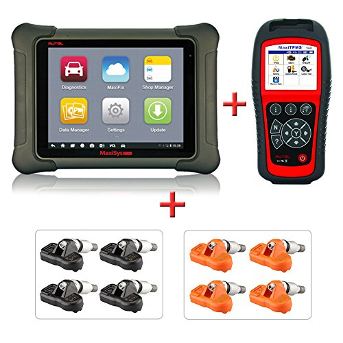 Autel MaxiSys Elite +MaxiTPMS TS601+ 315&433Mhz Sensors - Diagnostic Tool with Specific Car ECU Coding & Programming TPMS Diagnostics & 2 Years Free Update