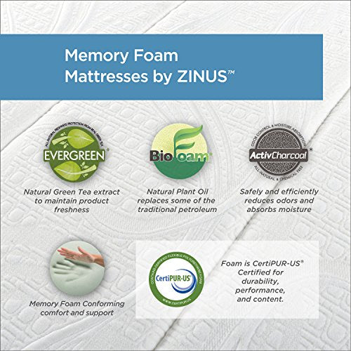 Zinus Sleep Master Ultima Comfort Memory Foam 6 Inch Mattress, Full