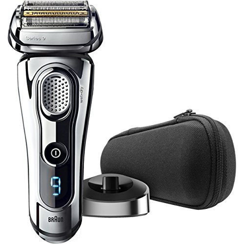 Braun Series 9 9293s Men's Electric Shaver, Wet & Dry, Travel Case with Charging Stand, Premium Chrome Cordless Razor, Razors, Shavers, & Pop Up Trimmer