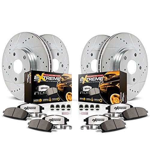 Power Stop K3166-36 Front & Rear Z36 Truck and Tow Brake Kit