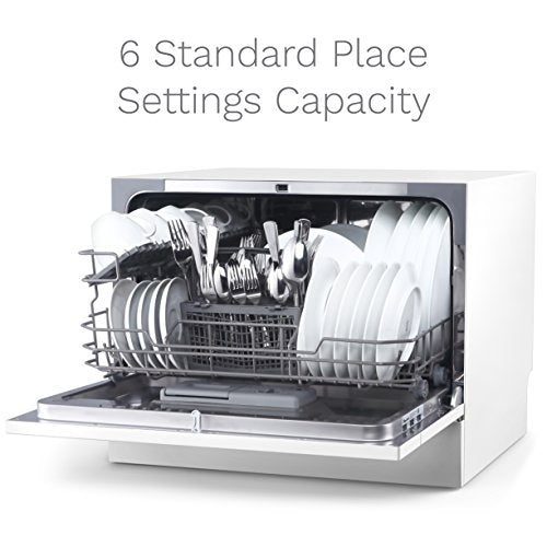 hOmeLabs Compact Countertop Dishwasher - Portable Mini Dish Washer in  Stainless Steel Interior for Small Apartment Office and Home Kitchen - ...