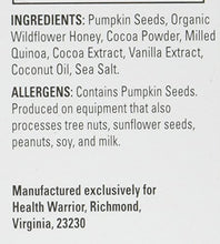 Health Warrior Pumpkin Seed Bars, Dark Chocolate, 12 Count - 14.8 oz