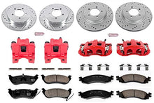 Power Stop KC1443 Z23 Evolution Sport 1-Click Brake Kit with Powder Coated Calipers (Brake Pads, Drilled/Slotted Rotors)