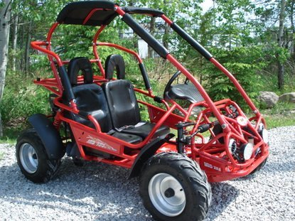 Trailmaster XRX Mid-Size 200cc Kids GoKart Red