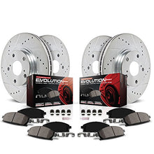 Power Stop K6065 Front and Rear Z23 Evolution Brake Kit with Drilled/Slotted Rotors and Ceramic Brake Pads