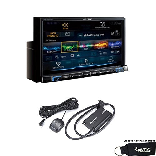 Alpine INE-W977HD 7-Inch Audio/Video/Navigation System and Sirius XM tuner bundle