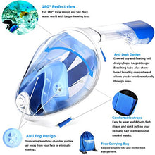Octobermoon Original 180°Full view Panoramic full face Snorkel Mask