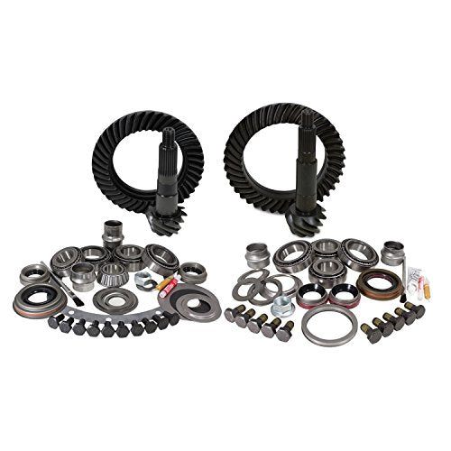 Yukon Gear YGK007 Gear and Install Kit Package (for Jeep TJ Dana 30 front Dana 44 rear, 4.56 Ratio)