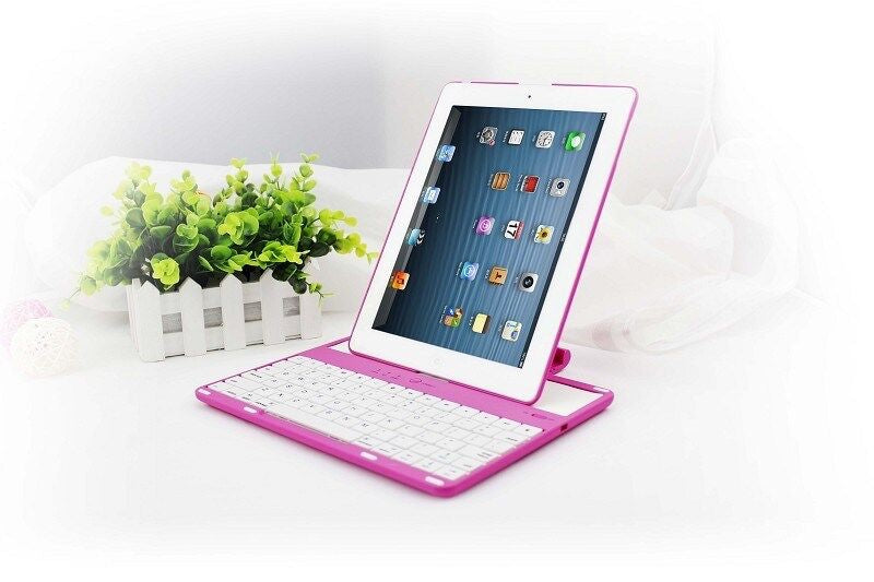 9427f420735 ... For ipad 4 ipad 3 ipad 2 removable wireless bluetooth keyboard with  holder stand ...