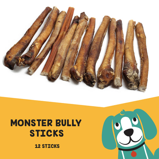 "Uber Chews 12"" Monster Bully Sticks - 12 Pack"