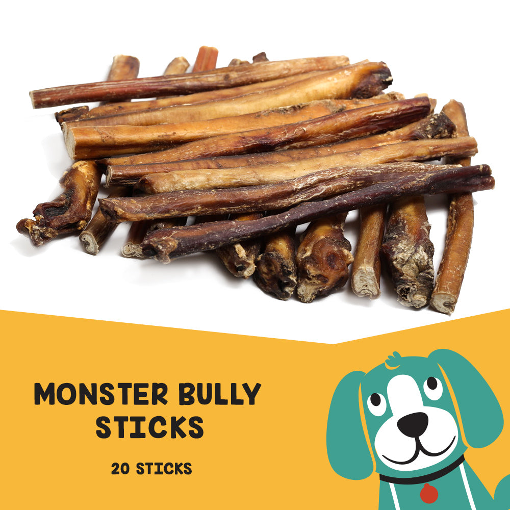 "Uber Chews 12"" Monster Bully Sticks - 20 Pack"