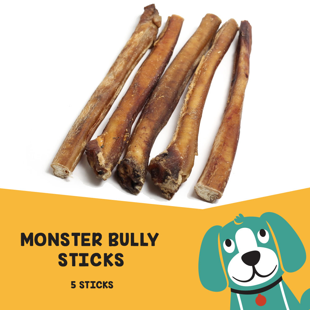 "Uber Chews 12"" Monster Bully Sticks - 5 Pack"