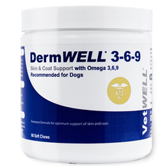 DermWELL Omega 3-6-9 Fish Oil Soft Chews for Dogs - 60 Count