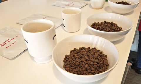 coffee beans cupping