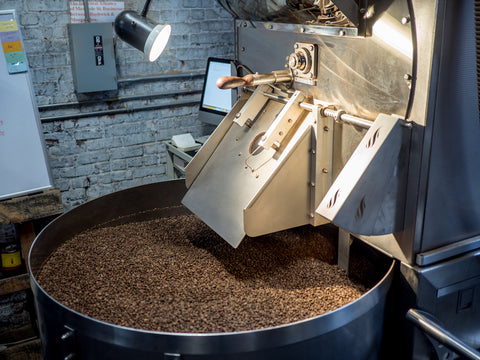 eatcultured coffee beans being roasted at city of saints brooklyn