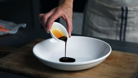 miso poured in bowl
