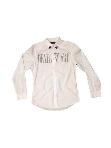 DBA Button Up White/Black