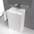 Lavabo colonne in superficie minerale SOLID SURFACE Corian® CABANES 60 cm