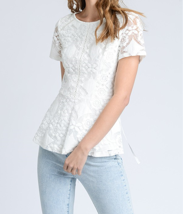 Lace Peplum Blouse