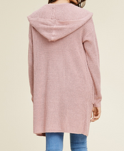 Dusty Pink Hooded Cardigan