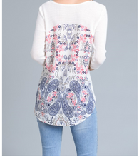 Floral Back Blouse