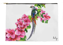 Tropical Birds with Flowers Pouch - Artzi Prints