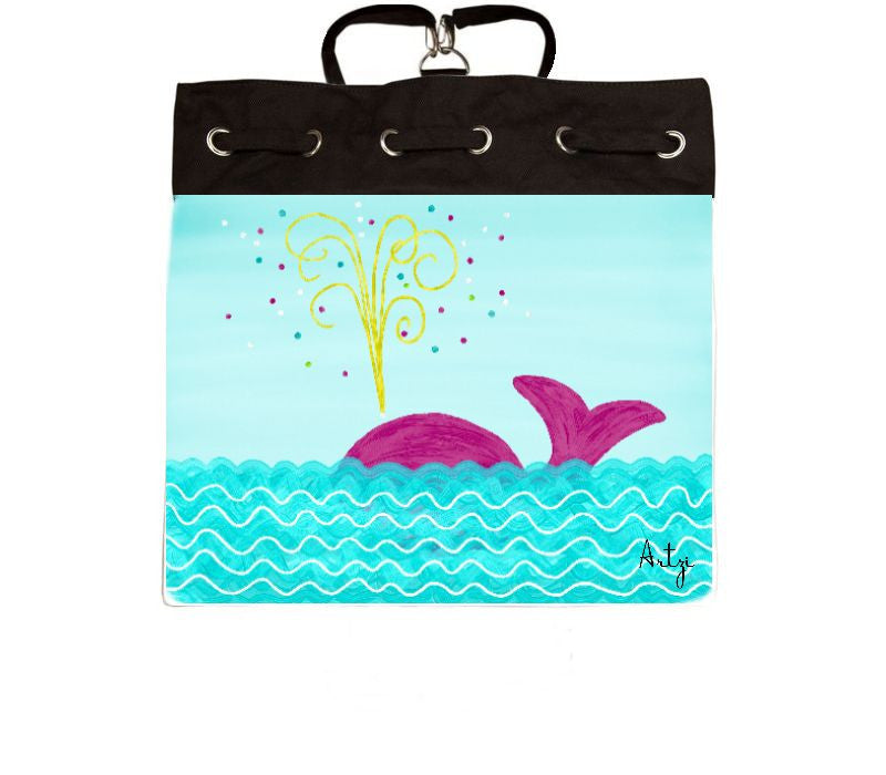 Pink Whale Backpack - Artzi Prints
