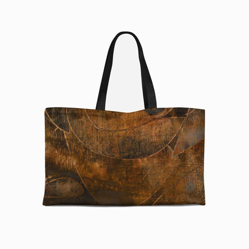 Brown Swirl weekender Tote - Artzi Prints