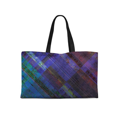 Royal Plaid Weekender Tote - Artzi Prints