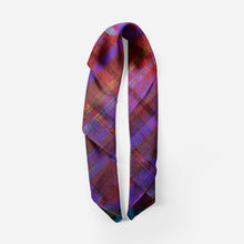 Purple Plaid Scarf - Artzi Prints