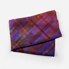 Purple Plaid Scarf Long - Artzi Prints