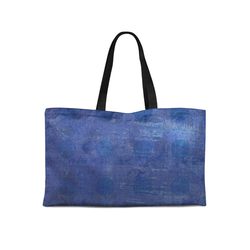 Blue Plaid Weekender Tote - Artzi Prints