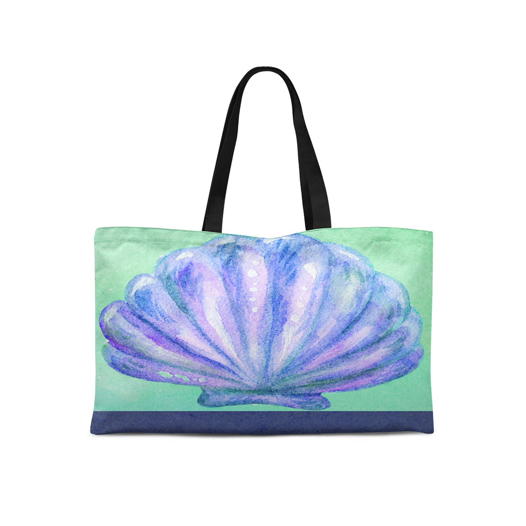 Blue Shell Weekender Tote - Artzi Prints