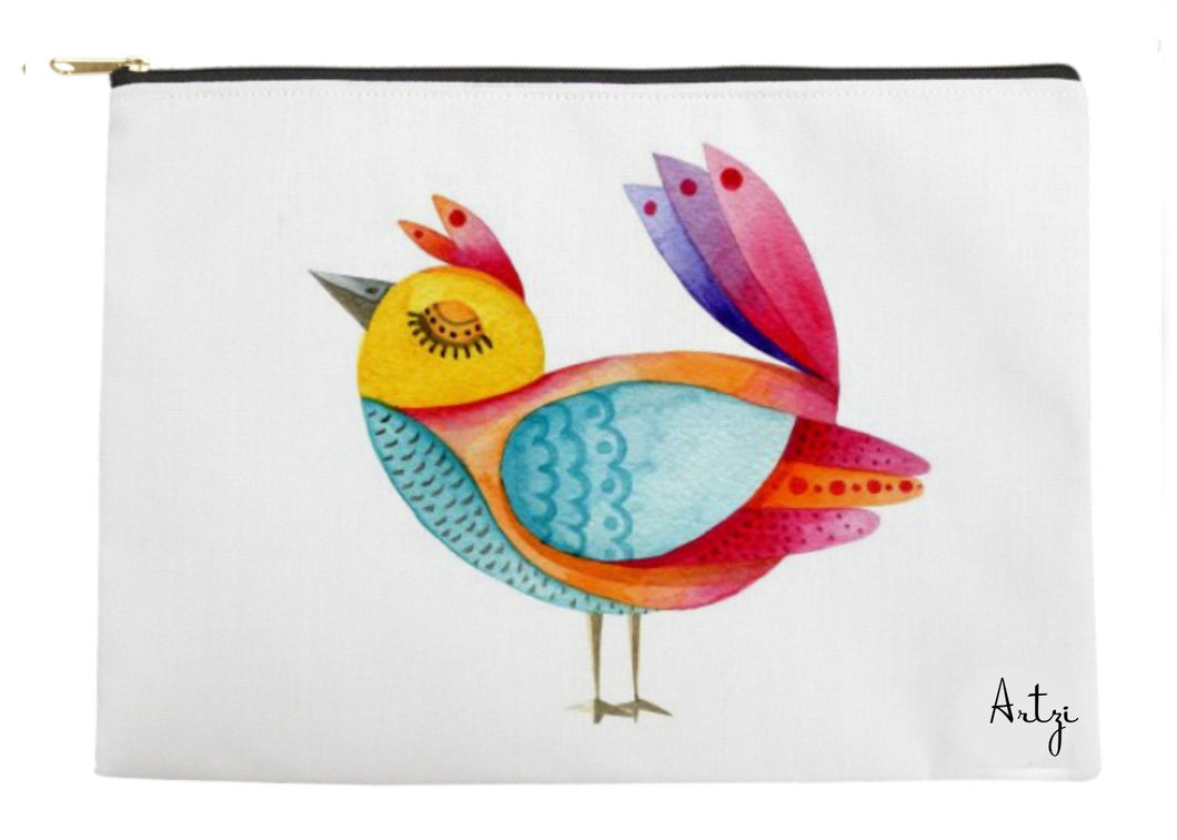 Fun Bird Pouch - Artzi Prints