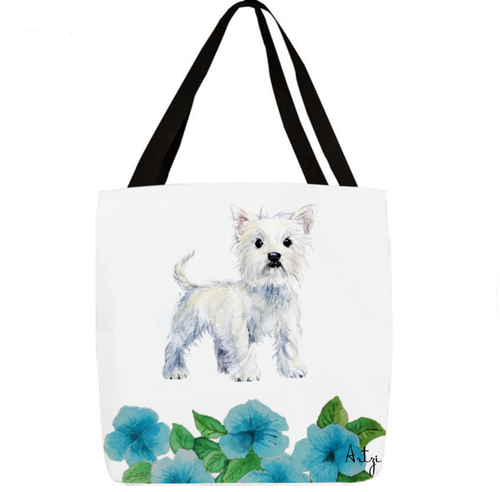 West Highland Terrier Tote - Artzi Prints