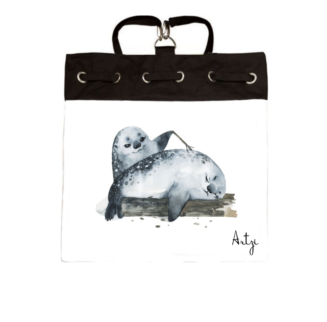 Whls Sea Lion Backpack - Artzi Prints