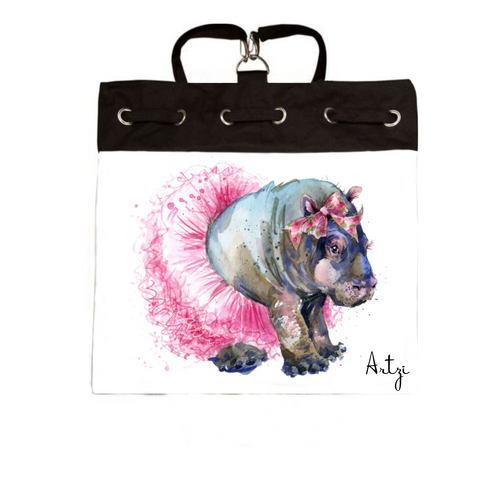 Fiona Hippo Backpack - Artzi Prints