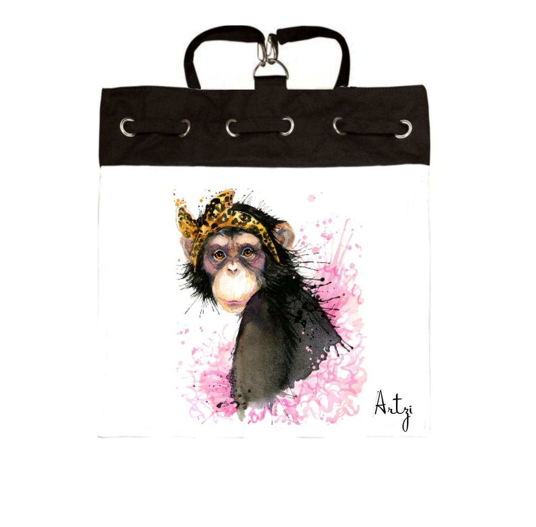 Cute Monkey Backpack - Artzi Prints
