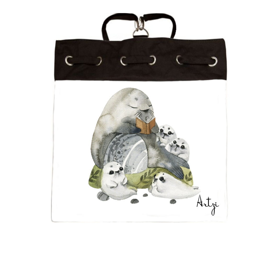 Sea Lion Family Backpack - Artzi Prints