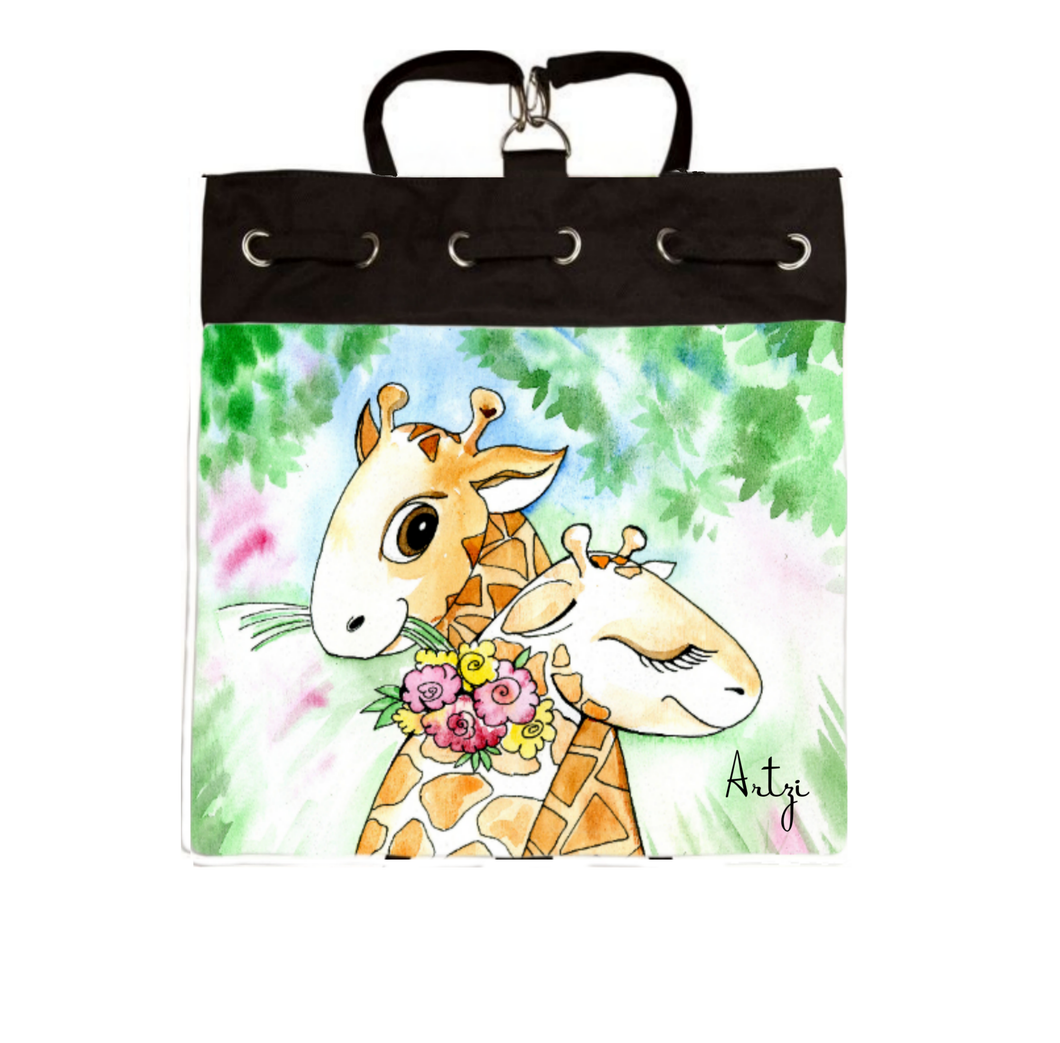 Whls Cute Giraffe Backpack - Artzi Prints