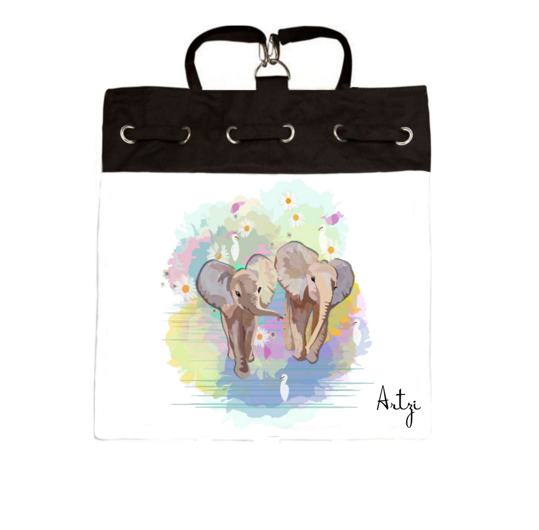 Cute Elephants Backpack - Artzi Prints