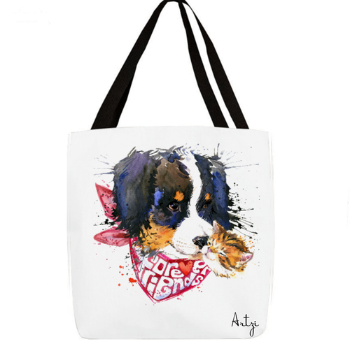 Bernese Mountain Puppy Tote - Artzi Prints