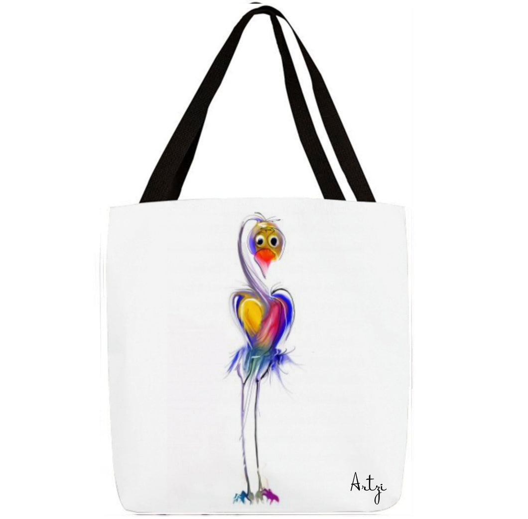 Cute Heart Bird Tote - Artzi Prints