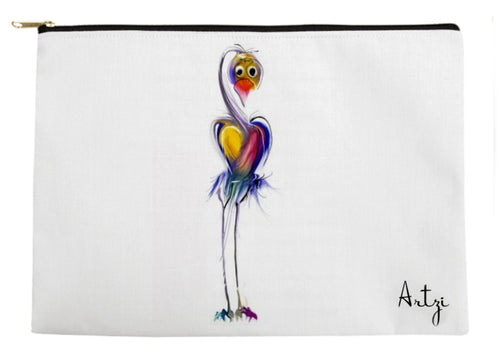 Cute Heart Bird Pouch - Artzi Prints