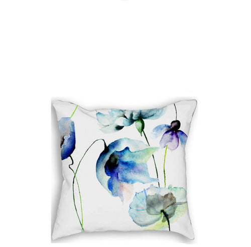 Blue flowers Pillow - Artzi Prints