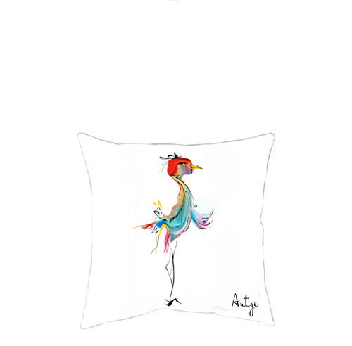 Cute Birdie Pillow - Artzi Prints