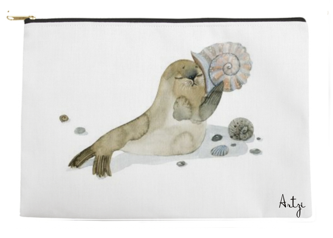 Shell Sea Lion Pouch - Artzi Prints