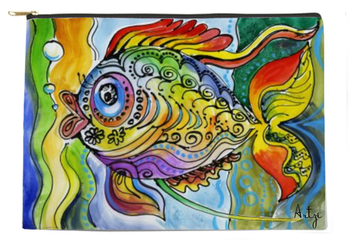 Colorful Fish Pouch - Artzi Prints
