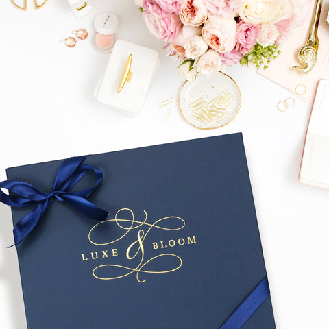 Luxe & Bloom Navy Gift Box
