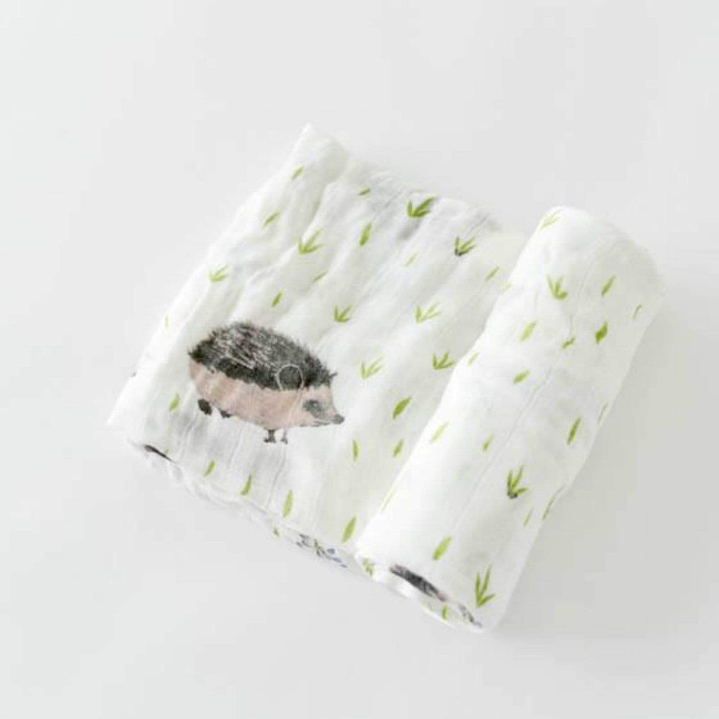 Luxe & Bloom - Little Unicorn Hedgehog Deluxe Swaddle
